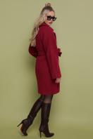 бордовое пальто с накладными карманами. пальто П-301-90. Цвет: 120-брусника цена