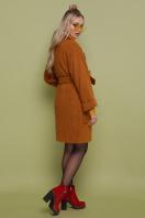 бордовое пальто с накладными карманами. пальто П-301-90. Цвет: 277-горчица купить