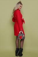 бирюзовое пальто с поясом. пальто П-308. Цвет: 1201-красный цена