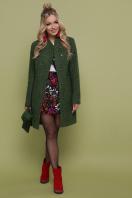 бирюзовое пальто с поясом. пальто П-308. Цвет: 1203-зеленый купить