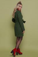 бирюзовое пальто с поясом. пальто П-308. Цвет: 1203-зеленый цена