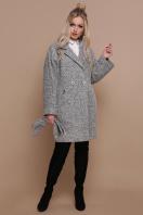 клетчатое пальто прямого кроя. пальто П-300-90. Цвет: 1205-серый купить