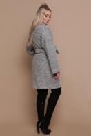 шерстяное пальто в клетку. пальто П-300-90. Цвет: 1205-серый цена