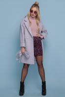 шерстяное пальто в клетку. пальто П-300-90. Цвет: 1209-розовый купить