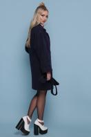 бордовое пальто с накладными карманами. пальто П-301-90. Цвет: темно синий купить