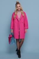 шерстяное пальто в клетку. пальто П-300-90. Цвет: 1210-малина купить
