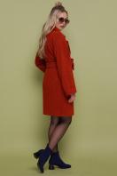 бордовое пальто с накладными карманами. пальто П-301-90. Цвет: 170-терракот купить
