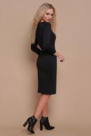 трикотажное платье цвета капучино. платье Ванесса д/р. Цвет: черный купить