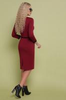 трикотажное платье цвета капучино. платье Ванесса д/р. Цвет: бордо купить