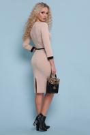 трикотажное платье цвета капучино. платье Ванесса д/р. Цвет: капучино купить