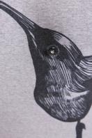 серая кофта с принтом. Птица кофта Прима д/р. Цвет: принт цена