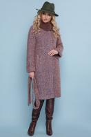 горчичное пальто с мехом. пальто П-302-100 зм. Цвет: 1208-розовый купить
