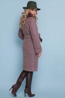 горчичное пальто с мехом. пальто П-302-100 зм. Цвет: 1208-розовый цена