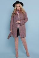 коричневое пальто с мехом. пальто П-302-85 зм. Цвет: 1208-розовый купить