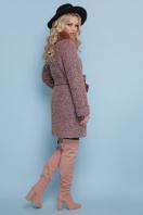 коричневое пальто с мехом. пальто П-302-85 зм. Цвет: 1208-розовый цена