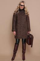 коричневое пальто с мехом. пальто П-302-85 зм. Цвет: 1224-коричневый купить
