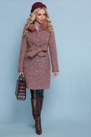 розовое зимнее пальто. пальто П-332 бм. Цвет: 1208-розовый купить