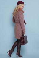 розовое зимнее пальто. пальто П-332 бм. Цвет: 1208-розовый цена