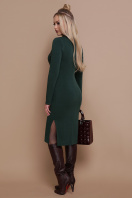 бордовое платье с длинным рукавом. платье Альбина д/р. Цвет: изумруд купить
