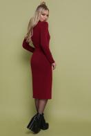 черное трикотажное платье. платье Виталина д/р. Цвет: бордо цена