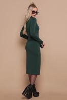 черное трикотажное платье. платье Виталина д/р. Цвет: изумруд цена