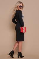 черное платье с рукавом три четверти. платье Шанель д/р. Цвет: черный лапка цена