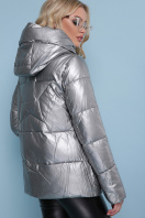 короткая серебристая куртка. Куртка 18-146. Цвет: серебро купить