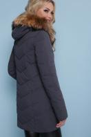 короткая куртка цвета хаки. Куртка 18-183. Цвет: серый купить