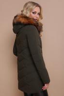 короткая куртка цвета хаки. Куртка 18-183. Цвет: хаки купить