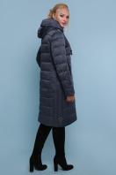 длинная куртка больших размеров. Куртка 18-197-Б. Цвет: серо-синий купить