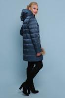 блестящая куртка цвета хаки. Куртка 18-71. Цвет: волна цена