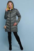 блестящая куртка цвета хаки. Куртка 18-71. Цвет: хаки купить