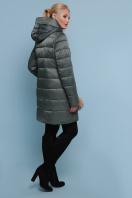 блестящая куртка цвета хаки. Куртка 18-71. Цвет: хаки цена