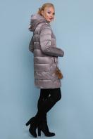 блестящая куртка цвета хаки. Куртка 18-71. Цвет: серый цена