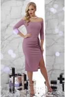 сиреневое платье с открытыми плечами. платье Амелия д/р. Цвет: лавандовый купить