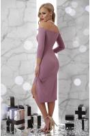 сиреневое платье с открытыми плечами. платье Амелия д/р. Цвет: лавандовый цена