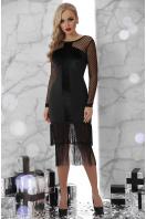 черное платье с бахромой. платье Багира д/р. Цвет: черный купить