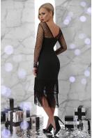 черное платье с бахромой. платье Багира д/р. Цвет: черный в интернет-магазине