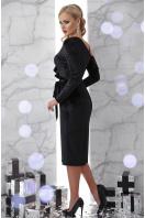 изумрудное вечернее платье с запахом. платье Валерия д/р. Цвет: черный купить