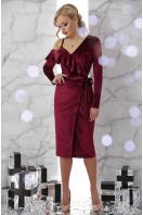 изумрудное вечернее платье с запахом. платье Валерия д/р. Цвет: бордо купить