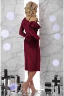 изумрудное вечернее платье с запахом. платье Валерия д/р. Цвет: бордо цена
