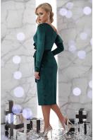 изумрудное вечернее платье с запахом. платье Валерия д/р. Цвет: изумруд купить