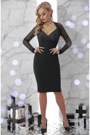 бежевое платье с декольте. платье Патриция д/р. Цвет: черный купить