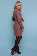 розовое пальто на пуговицах. пальто П-332 з. Цвет: 1208-розовый купить