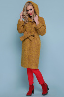 коричневое пальто на зиму. Пальто П-304-100 з. Цвет: 1223-горчица купить
