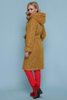 коричневое пальто на зиму. Пальто П-304-100 з. Цвет: 1223-горчица цена