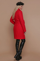 розовое пальто на пуговицах. пальто П-332 з. Цвет: 1201-красный купить