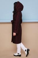 коричневое пальто на зиму. Пальто П-304-100 з. Цвет: 1216-бордо купить