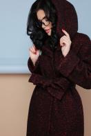 коричневое пальто на зиму. Пальто П-304-100 з. Цвет: 1216-бордо цена