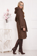 коричневое пальто на зиму. Пальто П-304-100 з. Цвет: 1224-коричневый купить